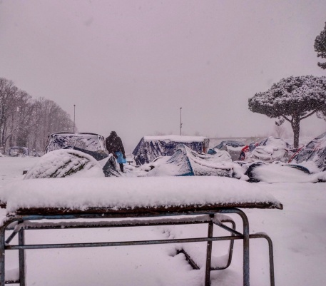 Piazzale Maslax Baobab Experience sotto la neve