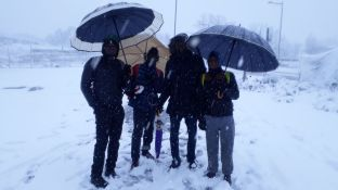 Piazzale Maslax Baobab Experience sotto la neve - foto ricordo