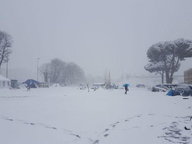 Piazzale Maslax Baobab Experience sotto la neve