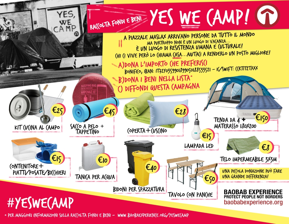 flyer yes we camp