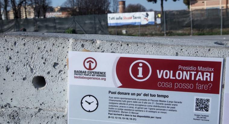 Piazzale Maslax - Informazioni invece di barriere di cemento
